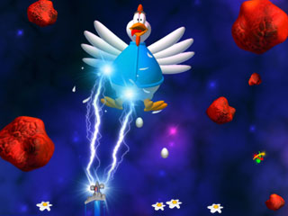 Dash across the galaxy to save Earth from the latest  greatest chicken threat!