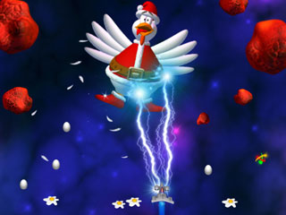 Screenshot of Chicken Invaders 3 Christmas Edition