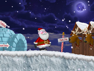 Help Santa recover from a sleigh accident!