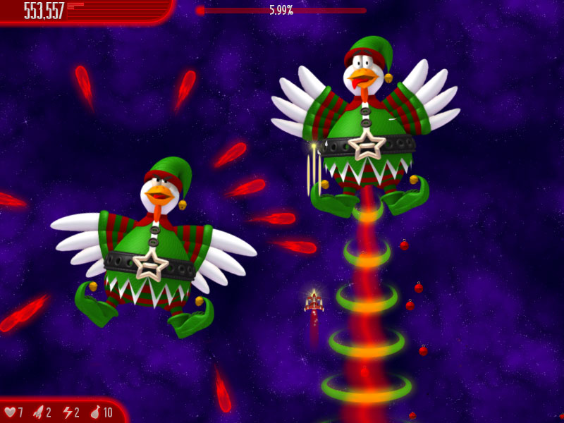 حصريا لعبة الفراخ الجديدة Chicken invaders 4 Christmas Edition 2012 بحجم 22 ميجا فقط ci4xmas-sshot-1.jpg