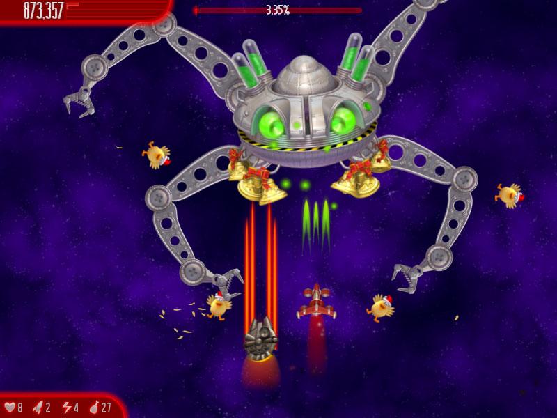 لعبة قتل الفراخ الرائعة Chicken invaders 4 2012 بحجم خرافي