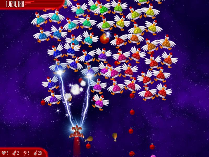 اللعبة الرائعة Chicken invaders 4 2012 بحجم خرافي